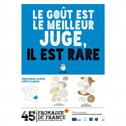 L'affiche des fromages AOP PACA