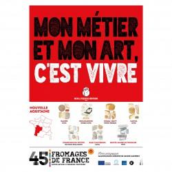 L'affiche Fromages AOP Nouvelle aquitaine