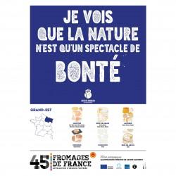 L'affiche Fromages AOP Grand-Est