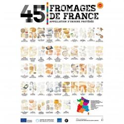 L'affiche Fromages AOP Nationale