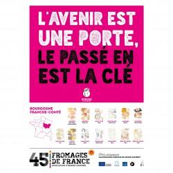 Affiche fromages aop franche comte