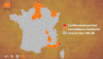 Nature des restrictions dans les départements des Alpes-Maritimes et du Nord